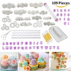 Cadrim 109pcs Fondant Sugarcraft Cake Decorating Tools