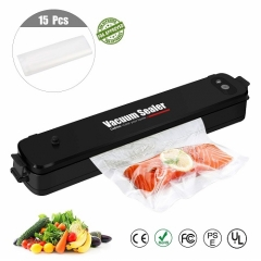 Cadrim Vacuum Sealer With 15pcs Sealer Bags[Black]