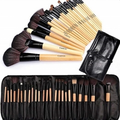 Cadrim Makeup Brush Set for Women with Pouch Bag Case (24pcs Burlywood)
