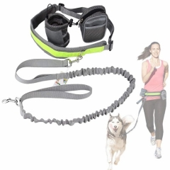 Cadrim Hands Free Dog Walking Belt  with 2 Pack Bags and Reflective Strip (grey)