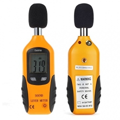 Cadrim Digital Sound Level Meter with Max/Min Hold Sound Measure 9V Battery Included
