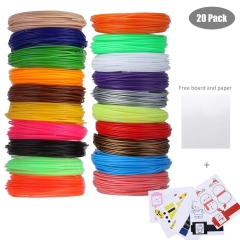 Cadrim 1.75mm PLA,3D Printer filament , 20 Different Color ,32.8 Feet Each, Fit for Polaroid, NEXTECH, Soyan, LAPOND, Amzdeal Intelligent 3D Pen